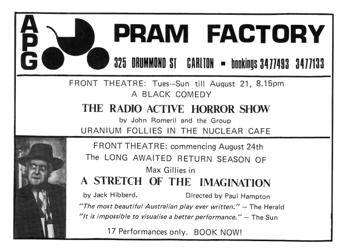 pram Factory Advert Theatre Australia