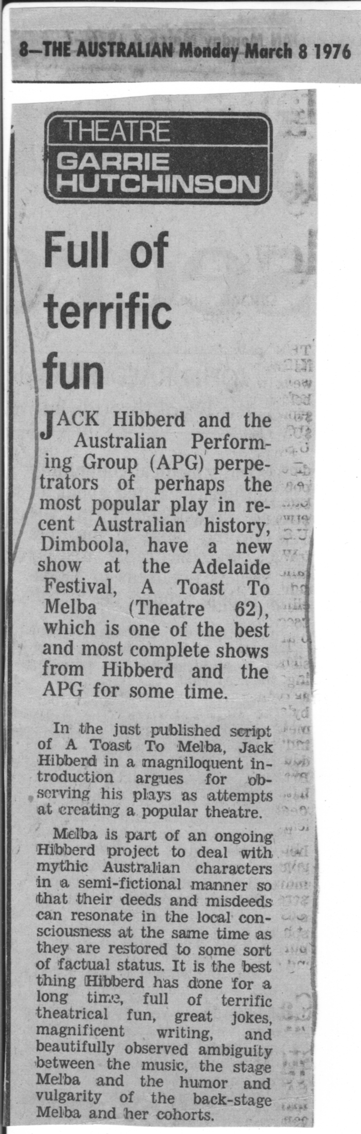 Toast-To-Melba-Adelaide-Review-Hutchinson-8March1976_p1