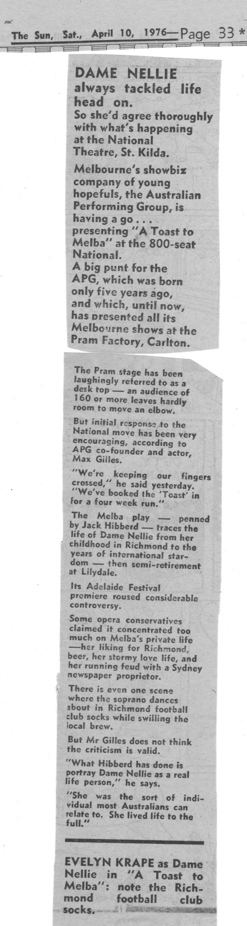 Publicity blurb april 76
